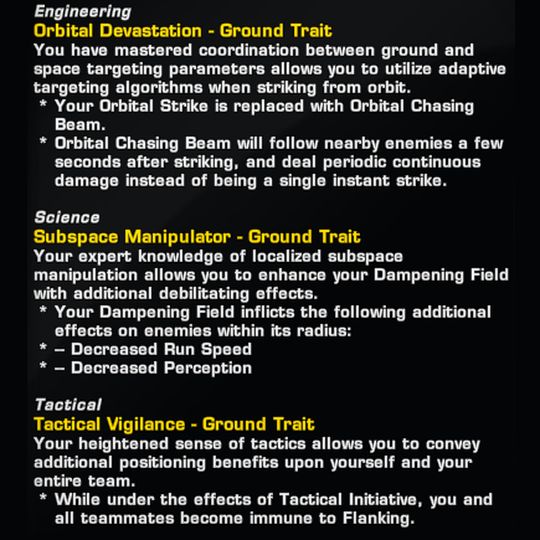 Ground Trait (Profession-Specific)